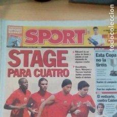 Coleccionismo deportivo: DIARIO SPORT - STAGE PARA CUATRO - 25/10/2006. Lote 163590182
