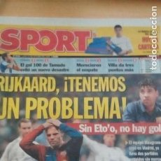Coleccionismo deportivo: DIARIO SPORT - RIJKAARD, TENEMOS UN PROBLEMA - 23/10/2006. Lote 163590394