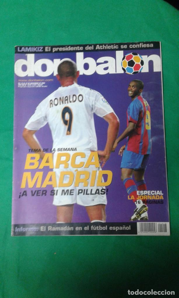 REVISTA DON BALON, BARCA -REAL MADRID, A VER SI ME PILLAS (Coleccionismo Deportivo - Revistas y Periódicos - Marca)