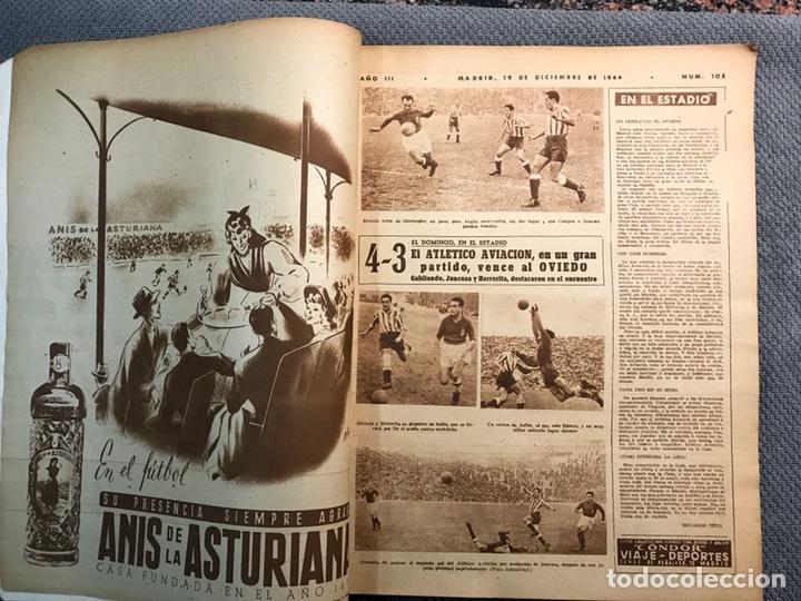 Coleccionismo deportivo: FÚTBOL. MARCA, Revista suplemento gráfico AÑO III. No.108 (a.1944) - Foto 3 - 163789381