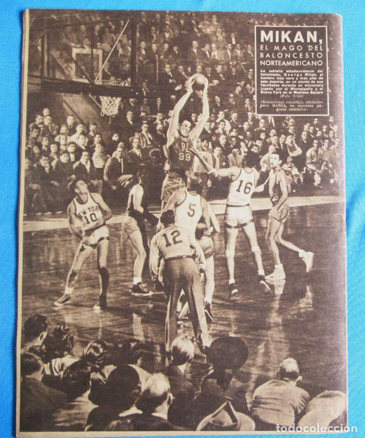Coleccionismo deportivo: MARCA. SEMANARIO GRÁFICO DE LOS DEPORTES. 19 DE ABRIL 1949. LIGA DE FÚTBOL, BARCELONA CAMPEÓN. - Foto 2 - 163887858