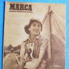 Coleccionismo deportivo: MARCA. SEMANARIO GRÁFICO DEPORTES. 20 DE JUNIO 1950. DESFILE DE EQUIPOS: SABADELL, ARENAS DE GUECHO. Lote 163914334