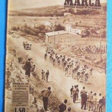 Coleccionismo deportivo: MARCA. SEMANARIO GRÁFICO DE LOS DEPORTES. 20 DE MAYO 1947. LIGA DE FÚTBOL. CICLISMO VUELTA A ESPAÑA.. Lote 163947638