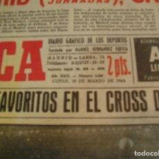 Coleccionismo deportivo: MARCA 18 MARZO 1963 EL MADRID CAMPEON DE LIGA Y HACE HISTORIA TERCERA LIGA CONSECUTIVA. Lote 164914934
