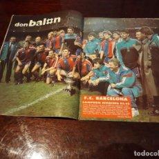 Coleccionismo deportivo: REVISTA DON BALON POSTER DEL BARCELONA CAMPEON DE LA SUPERCOPA 1992-93. Lote 164924182