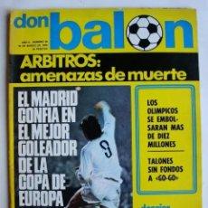 Coleccionismo deportivo: DON BALON Nº 26 - MARZO 1976 - ARBITROS AMENZAS DE MUERTE - SANTILLANA . . Lote 164930842