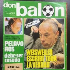 Coleccionismo deportivo: REVISTA DON BALÓN NÚMERO 27- AÑO II 6 ABRIL 1976- FC BARCELONA-LIVERPOOL UEFA,REAL MADRID-BAYERN.. Lote 164930930