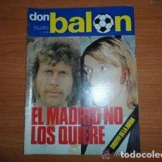 Coleccionismo deportivo: DON BALON Nº 22 MARZO 1976 REPORTAJE COLOR CHURRUCA ATHLETIC BILBAO QUINITO RACING QUINI SPORTING. Lote 164931142