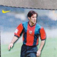 Coleccionismo deportivo: LÁMINA F.C. BARCELONA, FIGO. Lote 165183218