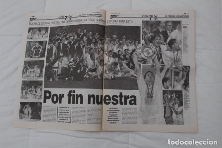 Coleccionismo deportivo: DIARIO MARCA. 21/05/1999 REAL MADRID SÉPTIMA CHAMPIONS LEAGUE Y EDICIÓN ESPECIAL (1999). - Foto 3 - 165490690