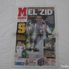 Coleccionismo deportivo: DIARIO MARCA. 26/05/2002. REAL MADRID NOVENA CHAMPIONS LEAGUE (2002). Lote 165491602
