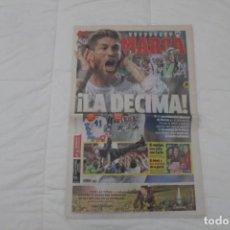 Coleccionismo deportivo: DIARIO MARCA. 25/05/2014. REAL MADRID DÉCIMA CHAMPIONS LEAGUE (2014). Lote 165492110