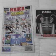 Coleccionismo deportivo: DIARIO MARCA. 29/05/2016. REAL MADRID UNDÉCIMA CHAMPIONS LEAGUE (2016). Lote 165492970