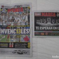 Coleccionismo deportivo: DIARIO MARCA. 27/05/2018. REAL MADRID DÉCIMATERCERA CHAMPIONS LEAGUE (2018). Lote 165494506