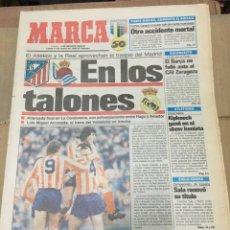 Coleccionismo deportivo: MARCA (11 ENERO 1988) ATLETICO MADRID VALENCIA REAL SOCIEDAD REAL MADRID . Lote 166028290