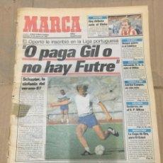 Coleccionismo deportivo: MARCA (16 AGOSTO 1987) OPORTO ATLETICO MADRID FICHAJE FUTRE MARADONA REAL MADRID . Lote 166030914