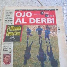 Coleccionismo deportivo: DIARIO MUNDO DEPORTIVO N,22,114 DEL AÑO 1993 ,16 DE ENERO PORTADA DERBI MADRILEÑO. Lote 166398258