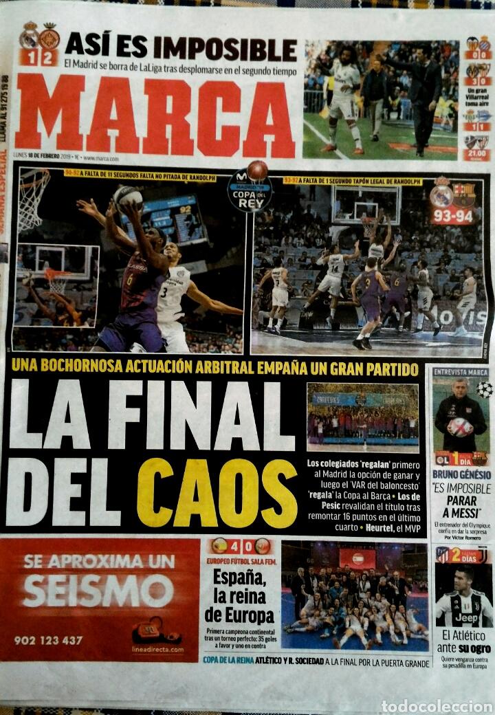 PERIÓDICO MARCA BARCELONA CAMPEÓN DE COPA BALONCESTO POLEMICA (Coleccionismo Deportivo - Revistas y Periódicos - Marca)