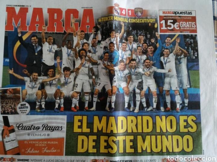 PERIÓDICO MARCA REAL MADRID CAMPEÓN MUNDIAL DE CLUBS (Coleccionismo Deportivo - Revistas y Periódicos - Marca)