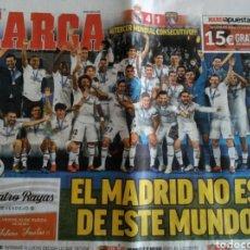 Coleccionismo deportivo: PERIÓDICO MARCA REAL MADRID CAMPEÓN MUNDIAL DE CLUBS. Lote 166573956