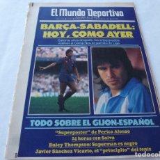 Collezionismo sportivo: MUNDO DEPORTIVO(4-1-87)GIJÓN 0 ESPAÑOL 1(LAURIDSEN)SALVA(BARÇA)CLOS(SABADELL)GUILLERMO AMOR(JUVENIL). Lote 166672694