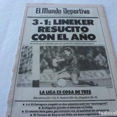 Coleccionismo deportivo: MUNDO DEPORTIVO(5-1-87)POSTER PERICO ALONSO(SABADELL)EL HOSPITALET 3ª DIVISIÓN,ANUNCIO TAEKWONDO. Lote 166673290