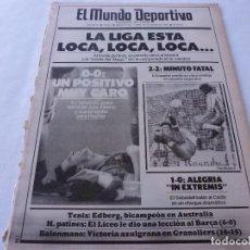Colecionismo desportivo: MUNDO DEPORTIVO(26-1-87)ESPAÑOL 2 R.SOCIEDAD 2,ARCONADA,VALLADOLID-BARÇA,JULIO ALBERTO LESIÓN.. Lote 166675890