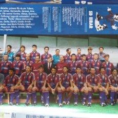 Colecionismo desportivo: FÚTBOL REVISTA DON BALÓN 1996 1997 MINI POSTER EIBAR + HOJAS CON LOS JUGADORES. Lote 166788938