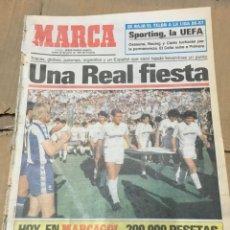 Coleccionismo deportivo: MARCA (22-6-1987) REAL MADRID ESPANYOL ESPAÑOL CAMPEON DE LIGA CELEBRACION. Lote 167142000