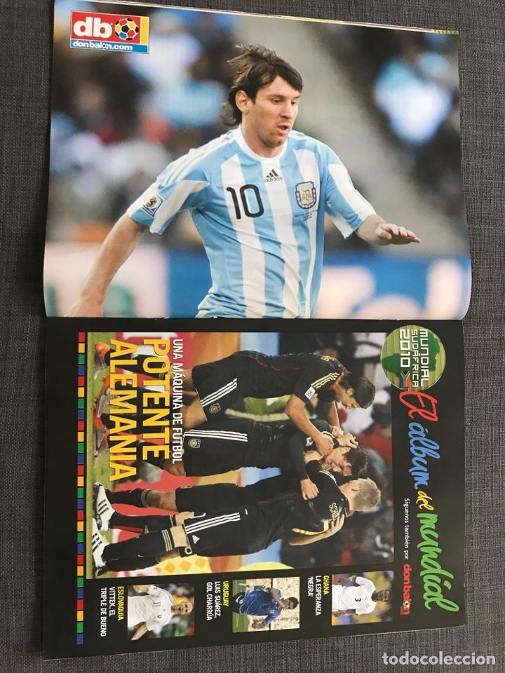 Coleccionismo deportivo: Don balón 1809 - Mundial Sudáfrica - España - Xavi - Póster Messi Argentina - Levante - Abreu - Foto 2 - 167147398
