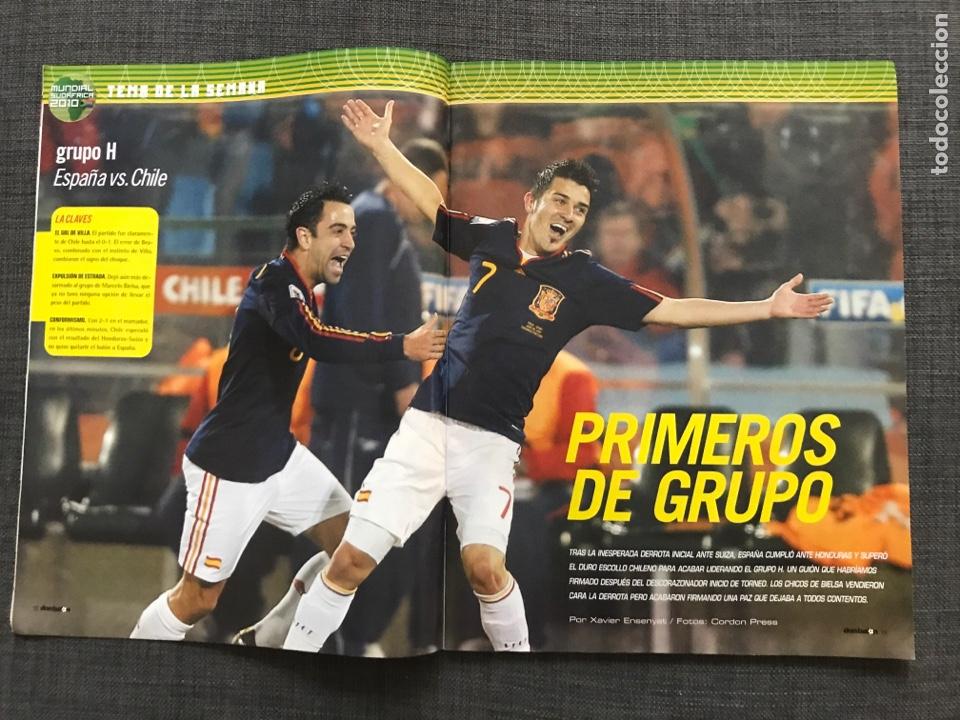Coleccionismo deportivo: Don balón 1809 - Mundial Sudáfrica - España - Xavi - Póster Messi Argentina - Levante - Abreu - Foto 3 - 167147398