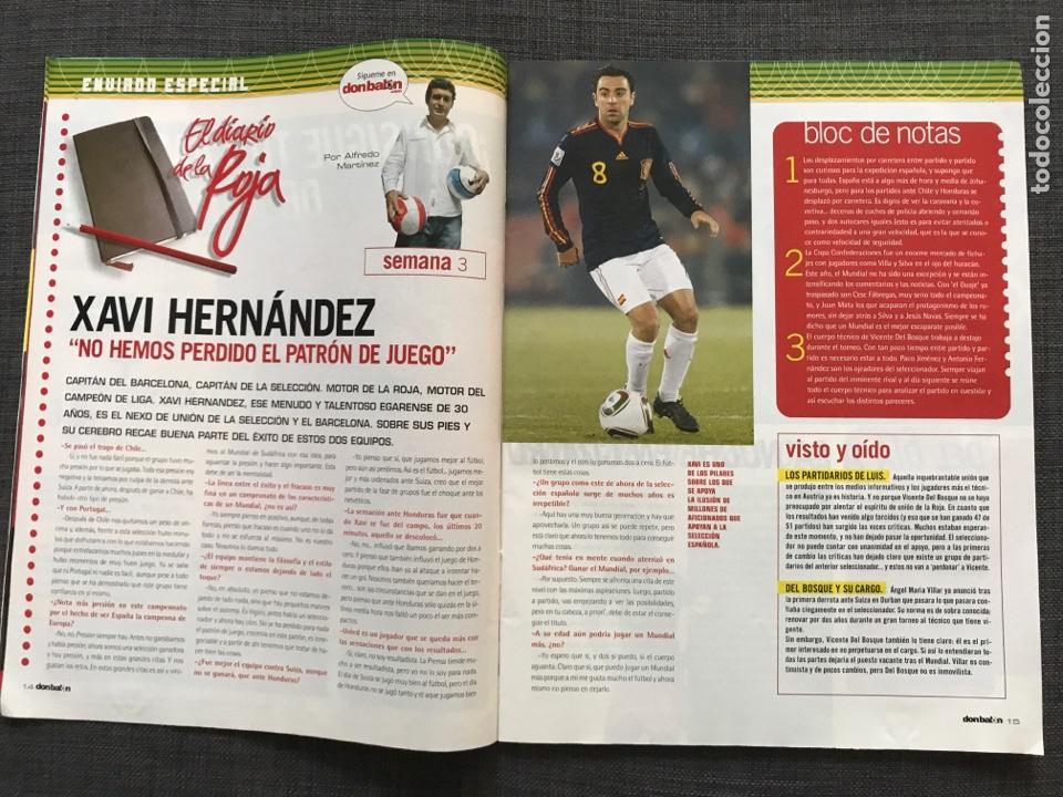 Coleccionismo deportivo: Don balón 1809 - Mundial Sudáfrica - España - Xavi - Póster Messi Argentina - Levante - Abreu - Foto 4 - 167147398