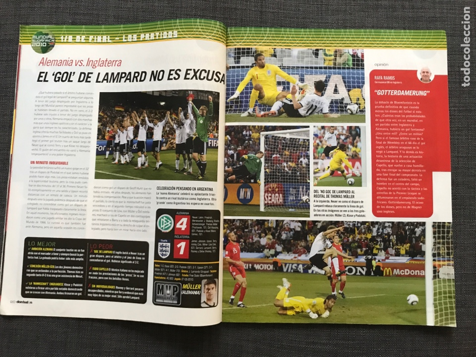 Coleccionismo deportivo: Don balón 1809 - Mundial Sudáfrica - España - Xavi - Póster Messi Argentina - Levante - Abreu - Foto 5 - 167147398