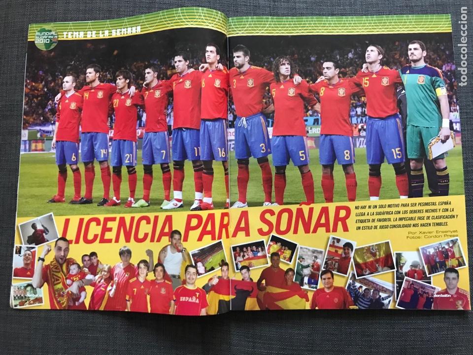 Coleccionismo deportivo: Don balón 1806 - Especial Mundial Sudáfrica 2010 - España - Xabi Alonso - Póster Villa - Kempes - Foto 2 - 167161801