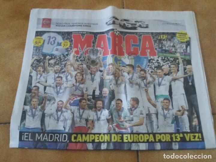 PERIÓDICO DEPORTIVO MARCA. DECIMOTERCERA CHAMPIONS. REAL MADRID. 27 MAYO 2018. LIVERPOOL. (Coleccionismo Deportivo - Revistas y Periódicos - Marca)