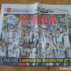Coleccionismo deportivo: PERIÓDICO DEPORTIVO MARCA. DECIMOTERCERA CHAMPIONS. REAL MADRID. 27 MAYO 2018. LIVERPOOL.. Lote 167193548