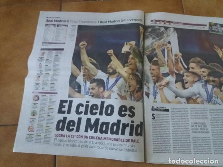 Coleccionismo deportivo: Periódico deportivo Marca. Decimotercera Champions. Real Madrid. 27 Mayo 2018. Liverpool. - Foto 2 - 167193548