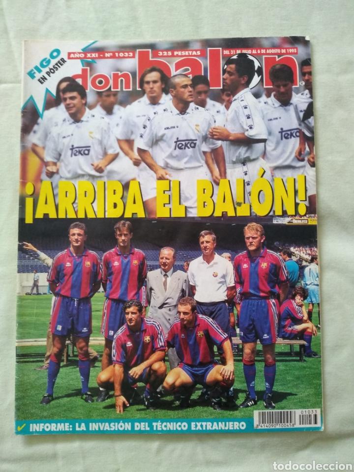 DON BALÓN 1033 PÓSTER LUIS FIGO (Coleccionismo Deportivo - Revistas y Periódicos - Don Balón)