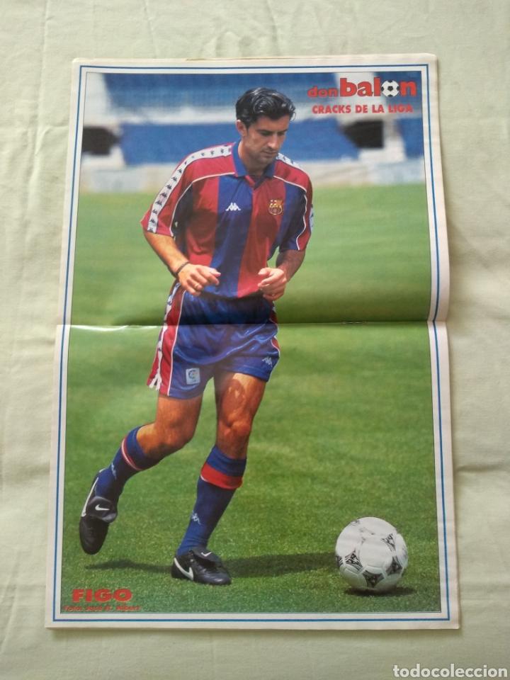 Coleccionismo deportivo: Don Balón 1033 póster Luis Figo - Foto 2 - 167721813