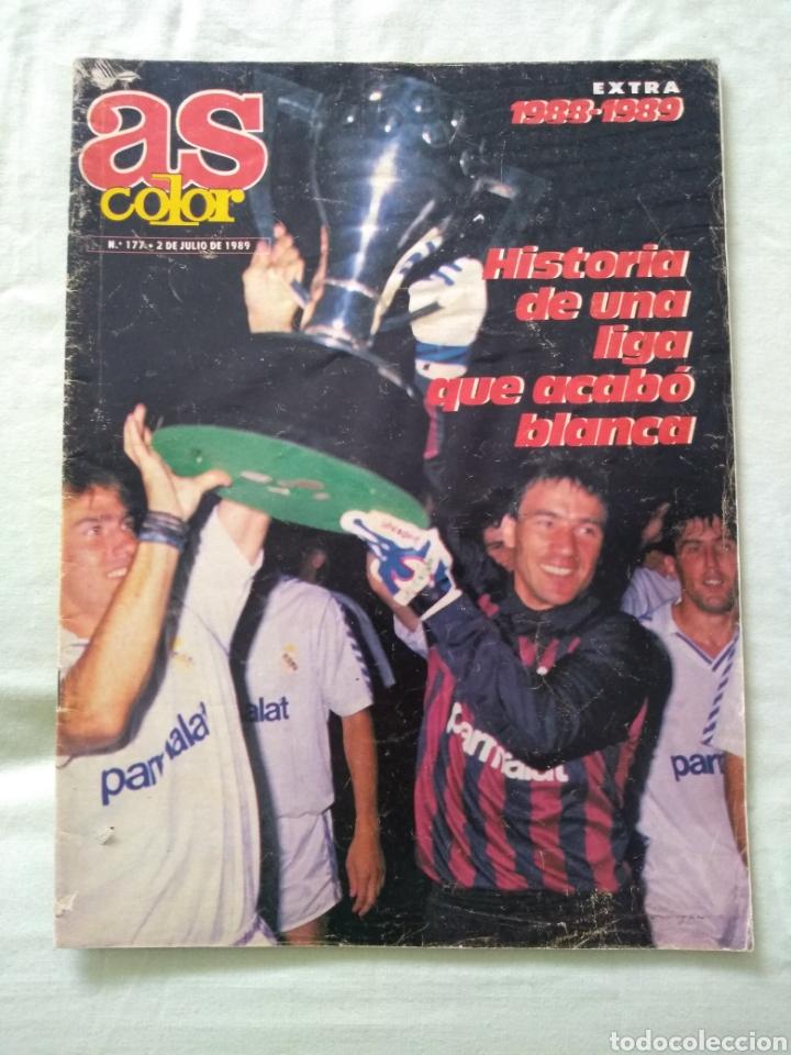AS COLOR 177 EXTRA LIGA 1988-89 PÓSTER INCLUIDO (Coleccionismo Deportivo - Revistas y Periódicos - As)