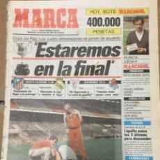 Coleccionismo deportivo: MARCA (10-6-1987) COPA REAL MADRID ATLETICO REAL SOCIEDAD ATHLETIC BILBAO MARCHULONIS. Lote 167833216