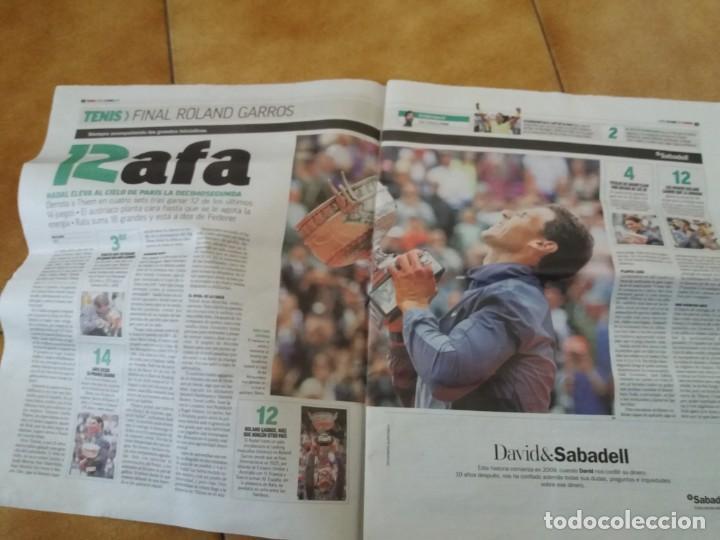 Coleccionismo deportivo: Periódico deportivo Marca. Rafa Nadal. Duodécimo Roland Garros. 9 de Junio 2019. - Foto 3 - 167851520