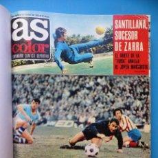 Coleccionismo deportivo: TOMO REVISTA AS - AÑO 1972 - 20 NUMEROS, DEL 36 AL 54 Y NUMERO EXTRAORDINARO CON TODOS LOS POSTERS. Lote 167975728