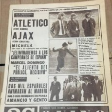 Coleccionismo deportivo: AS (14-4-1971) ATLETICO MADRID AJAX AMSTERDAM COPA EUROPA ABEBE BIKILA PSV EINDHOVEN REAL MADRID . Lote 167976332