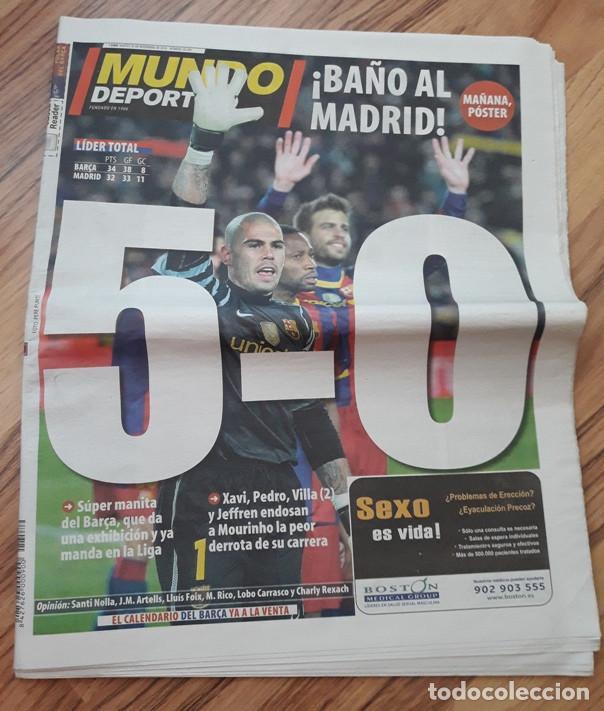 DIARIO MUNDO DEPORTIVO 30-11-2010. 5-0 BARÇA - REAL MADRID. FC BARCELONA. NOVIEMBRE 2010. (Coleccionismo Deportivo - Revistas y Periódicos - Mundo Deportivo)
