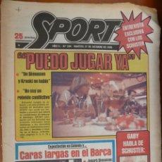 Coleccionismo deportivo: DIARIO SPORT Nº 334 21 OCTUBRE 1980 BARCELONA BARÇA SCHUSTER SIMONSEN . Lote 168184964