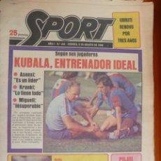 Coleccionismo deportivo: DIARIO SPORT Nº 264 8 AGOSTO 1980 BARCELONA BARÇA KUBALA GORDILLO. Lote 168185160