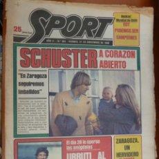 Coleccionismo deportivo: DIARIO SPORT Nº 365 21 NOVIEMBRE1980 BARCELONA BARÇA SCHUSTER URRUTI LANDABURU. Lote 168185264