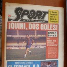 Coleccionismo deportivo: DIARIO SPORT Nº 281 28 AGOSTO 1980 BARCELONA BARÇA QUINI KUBALA ESPAÑOL. Lote 168185312