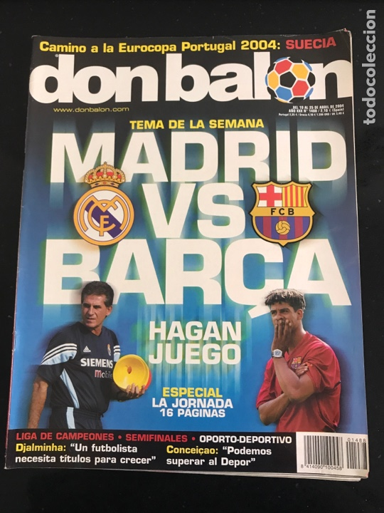 FÚTBOL DON BALÓN 1488 - PÓSTER MISTA - MADRID - BARCELONA - DJALMINHA DEPORTIVO - NEWELLS OLD BOYS (Coleccionismo Deportivo - Revistas y Periódicos - Don Balón)